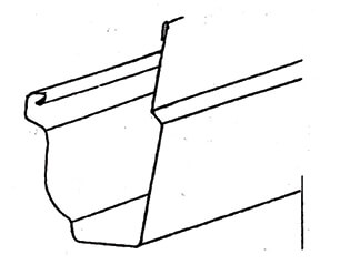 601500w Gutter 10 Mini White Capitol Supply And Service